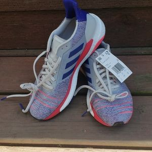ADIDAS RUNNING COURSE A PIED Blue Pink Sneakers 9